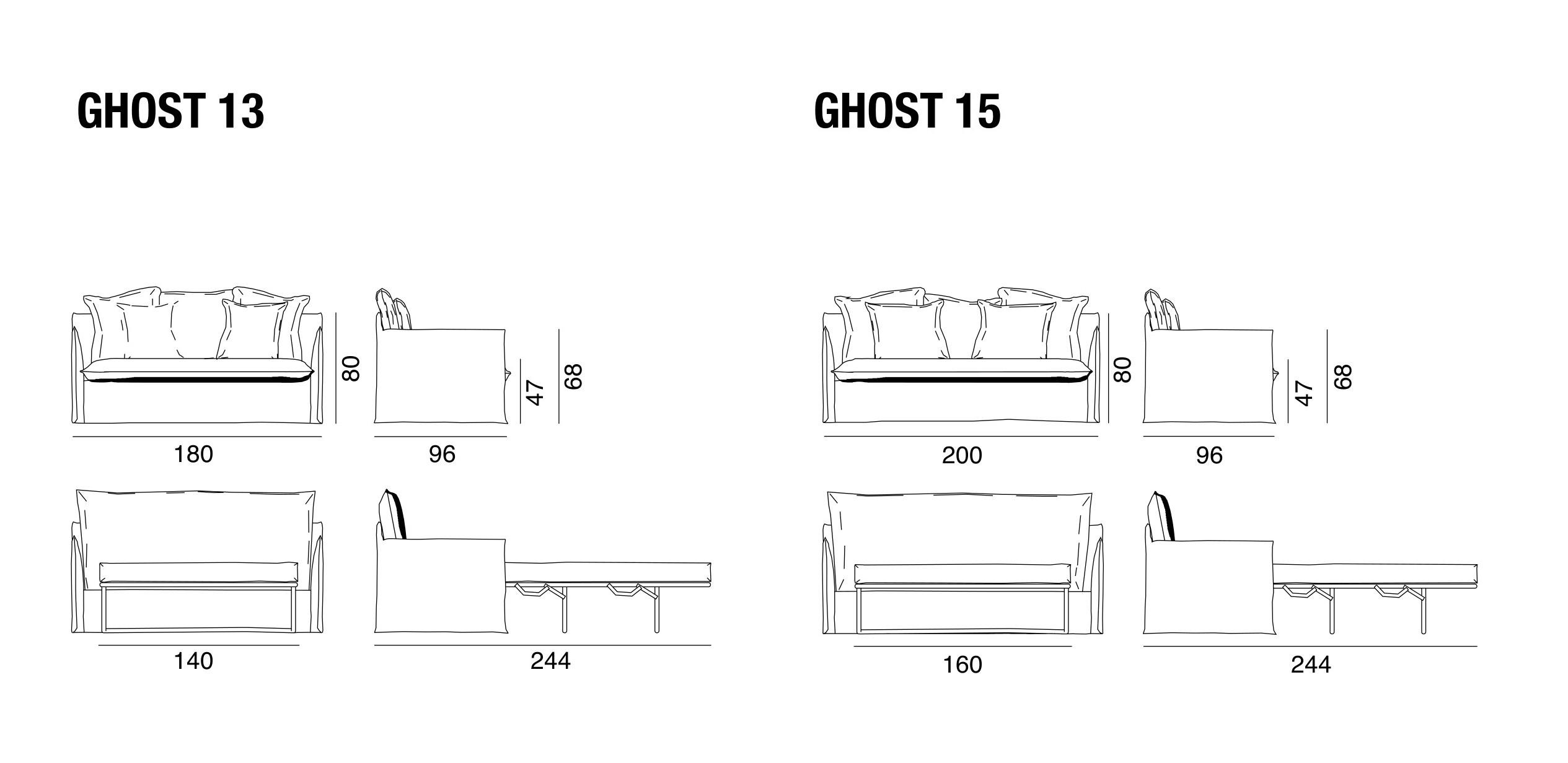Ghost divano letto ghost gervasoni gervasoni - Gervasoni divano letto ...