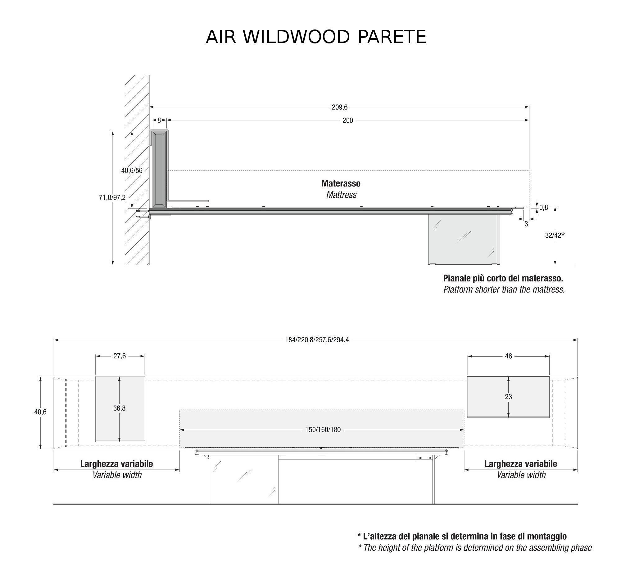 Air wildwood letto parete letti camera lago for Letto lago prezzo