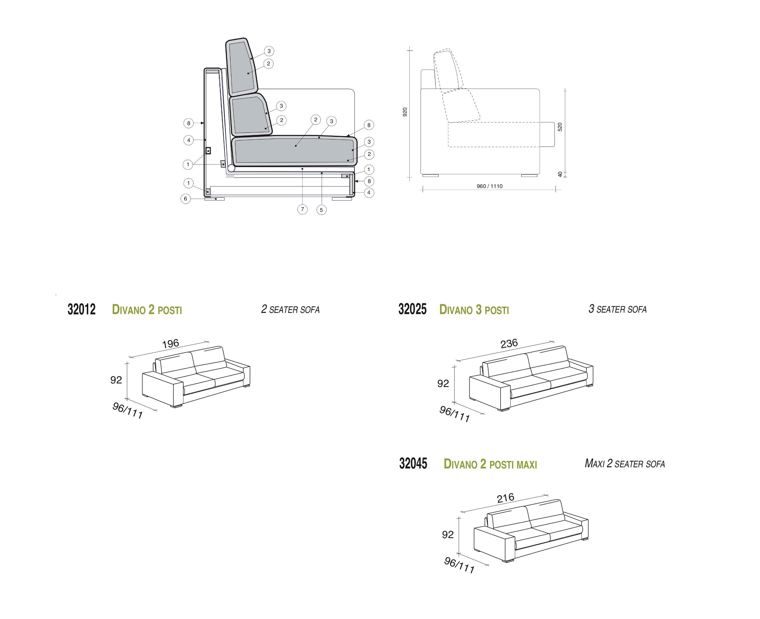 Confort divano lineare spagnol brand spagnol for Divano 5 posti lineare