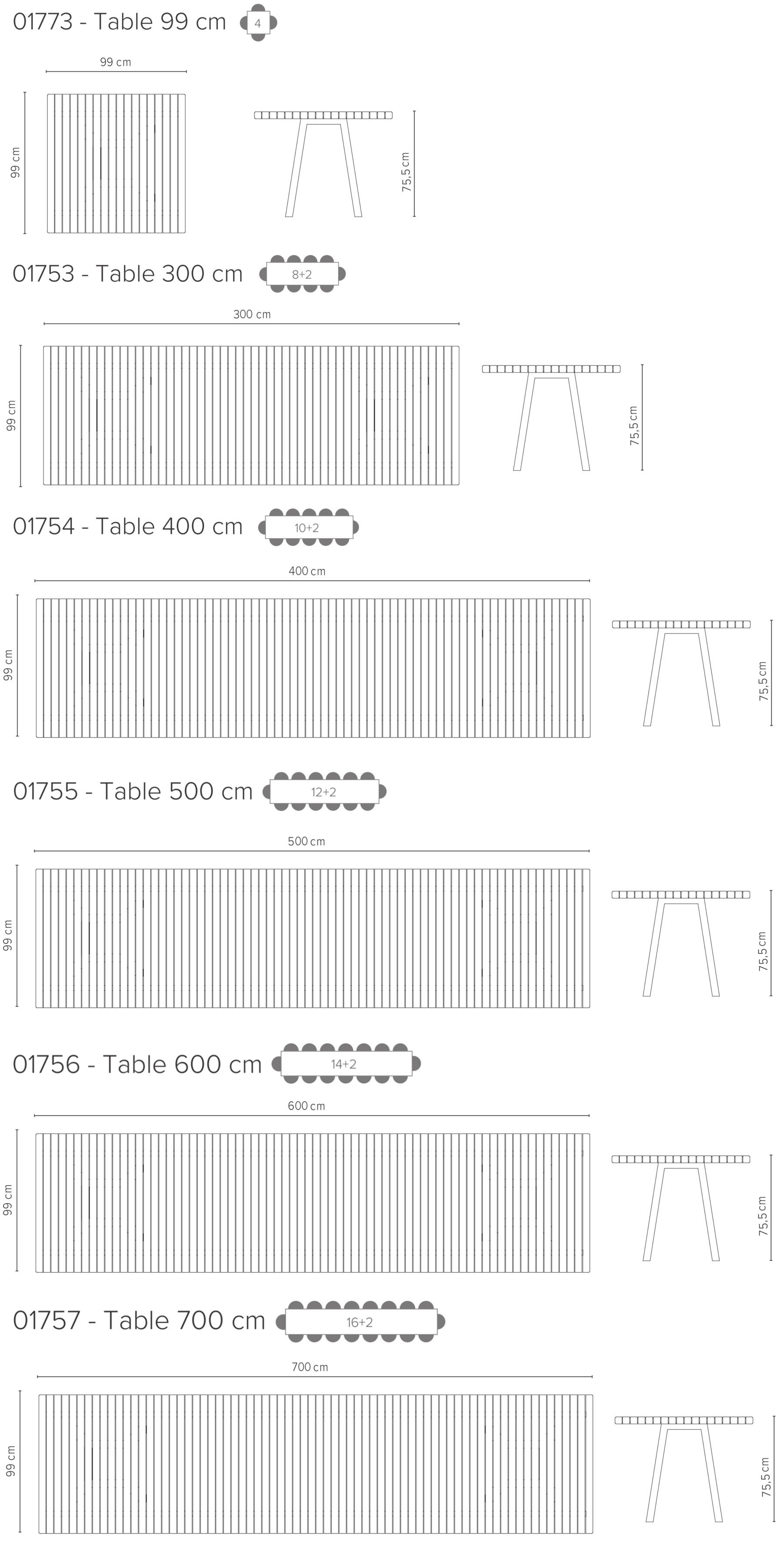Dimensioni Tavolo Pranzo 12 Persone vis À vis tavolo | tavoli fissi | tavoli | tribu - masonionline