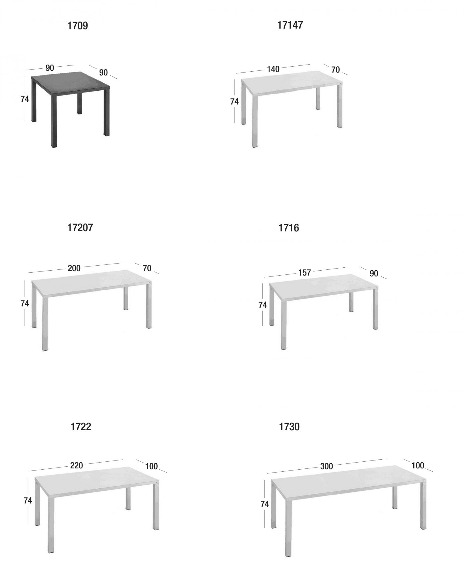 Easy tavoli fissi tavoli fast masonionline - Dimensioni tavolo ...