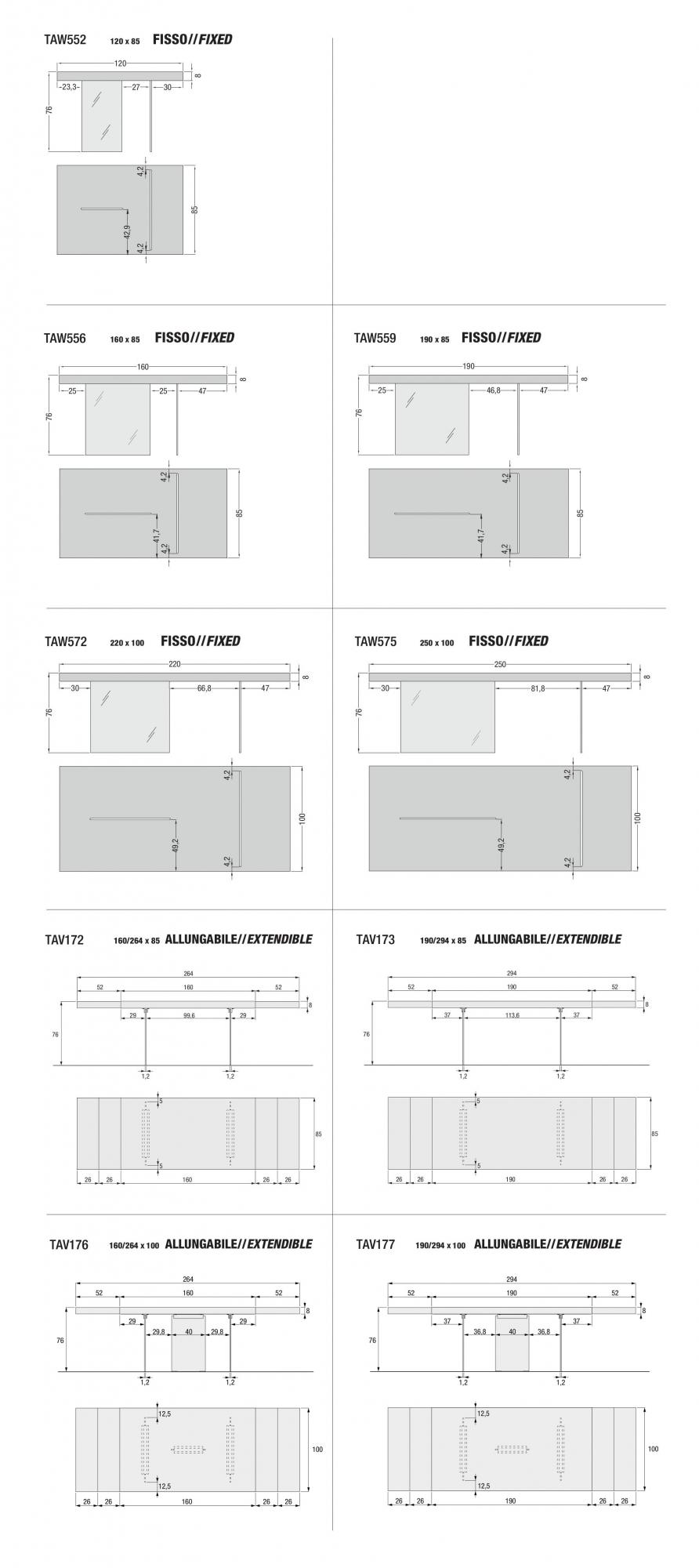 Dimensioni Standard Tavolo Cucina idea tavolini tavoliconsole trasformabili tavolino
